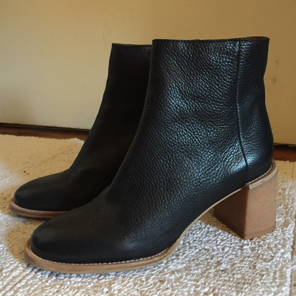 8f0be697baa See by Chloe Keira Black Leather Ankle Boots 39 9.  M 5acae1f01dffda81355930e8